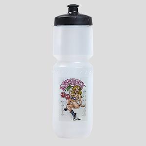 cherry_bomber Sports Bottle