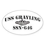 USS GRAYLING Sticker (Oval)