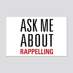 Rappelling - Ask Me About - Mini Poster Print