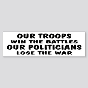 Win The War Bumper Sticker