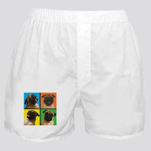 PUG SQUARES Boxer Shorts