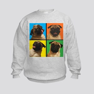 PUG SQUARES Kids Sweatshirt
