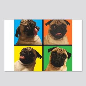 PUG SQUARES Postcards (Package of 8)