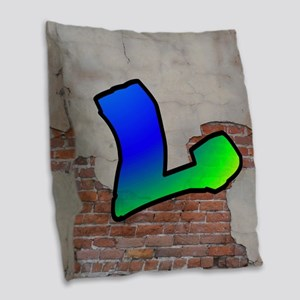 GRAFFITI #1 L Burlap Throw Pillow