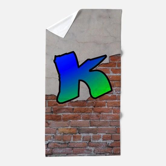 GRAFFITI #1 K Beach Towel