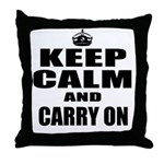 Custom Keep Calm Throw Pillow