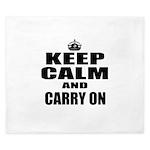 Custom Keep Calm King Duvet