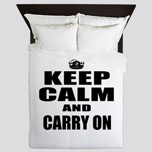 Custom Keep Calm Queen Duvet