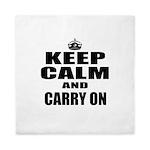 Custom Keep Calm Queen Duvet