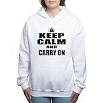 Custom Keep Calm Women's Hooded Sweatshirt