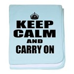 Custom Keep Calm baby blanket