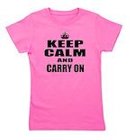 Custom Keep Calm Girl's Tee