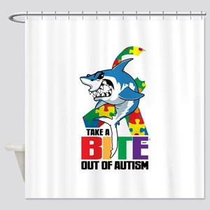 Take A Bite Out Of Autism Shower Curtain