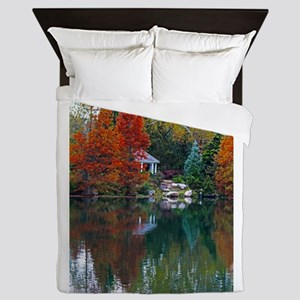 Fall Reflections Peaceful Lakeview Queen Duvet