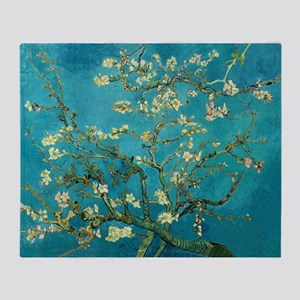 Vincent Van Gogh Blossoming Almond Tree Throw Blan