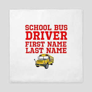 School Bus Driver Queen Duvet