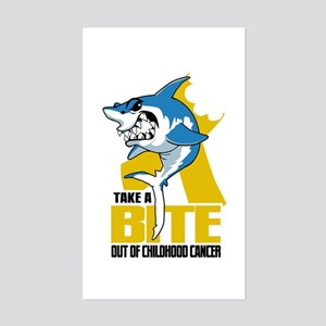 Bite Out Of Childhood Cancer Sticker (Rectangle)