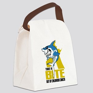 Bite Out Of Childhood Cancer Canvas Lunch Bag