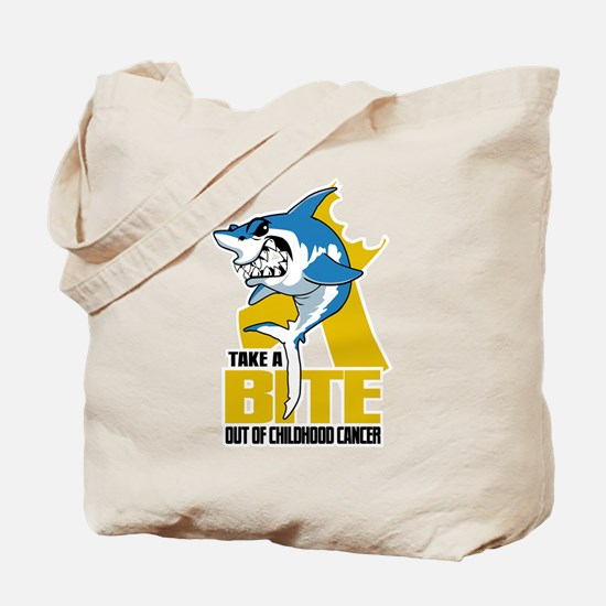 Bite Out Of Childhood Cancer Tote Bag