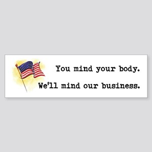 You Mind Your Body Sticker (Bumper)
