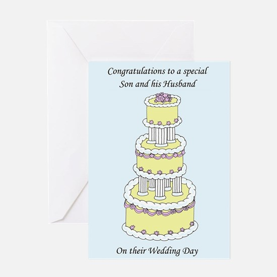 Congratulations son and husband on Greeting Cards