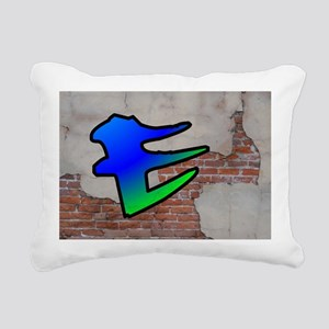 GRAFFITI #1 E Rectangular Canvas Pillow