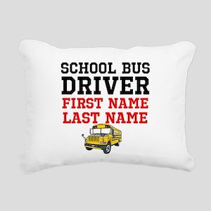 School Bus Driver Rectangular Canvas Pillow