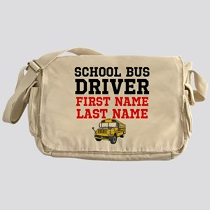 School Bus Driver Messenger Bag