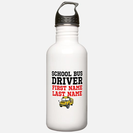 School Bus Driver Water Bottle