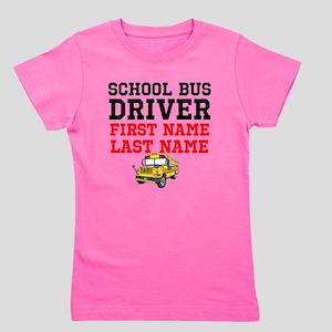 School Bus Driver Girl's Tee