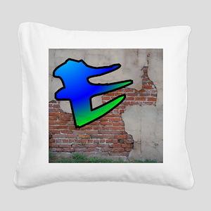 GRAFFITI #1 E Square Canvas Pillow