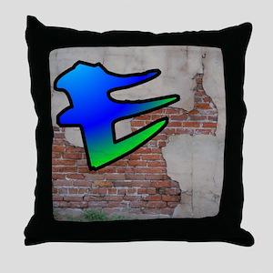 GRAFFITI #1 E Throw Pillow
