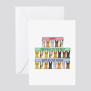 Wife Happy Birthday Cats Greeting Cards