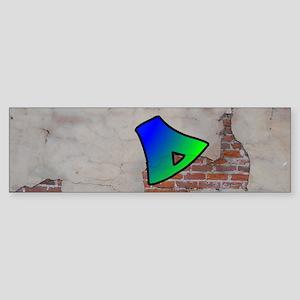 GRAFFITI #1 D Bumper Sticker