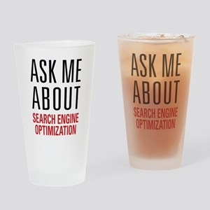 Search Engine Optimization Drinking Glass