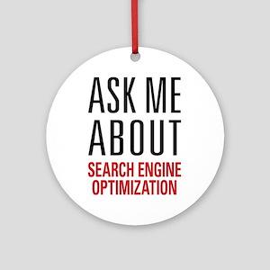 Search Engine Optimization Ornament (Round)