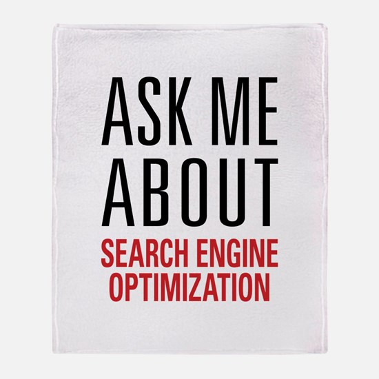 Search Engine Optimization Throw Blanket