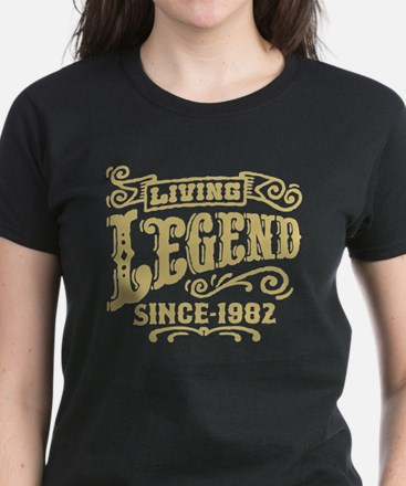 Living Legend Since 1982 Women's Dark T-Shirt