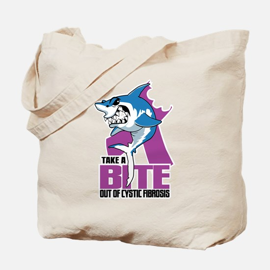 Bite Out Of Cystic Fibrosis Tote Bag