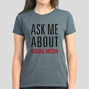 Social Media Women's Dark T-Shirt
