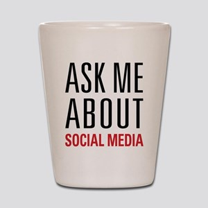 Social Media Shot Glass
