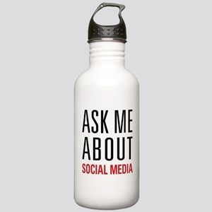 Social Media Stainless Water Bottle 1.0L