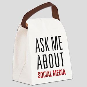 Social Media Canvas Lunch Bag