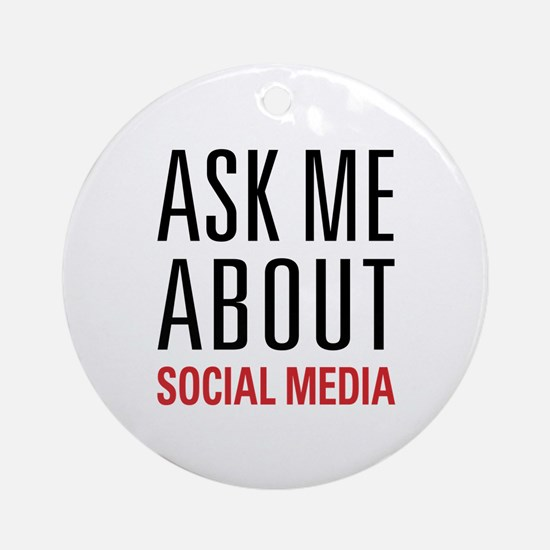 Social Media Ornament (Round)