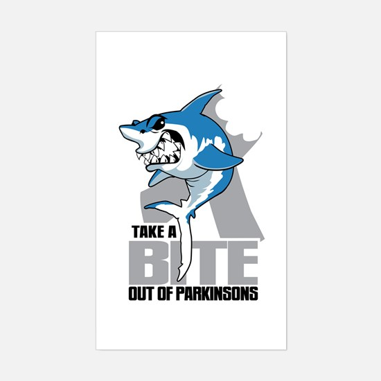 Bite Out Of Parkinsons Sticker (Rectangle)