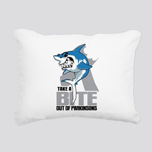 Bite Out Of Parkinsons Rectangular Canvas Pillow