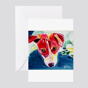 Jack Russell red cafe press copy Greeting Cards