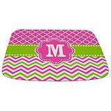 Chevron pink green Memory Foam Bathmats