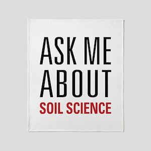 Soil Science Throw Blanket