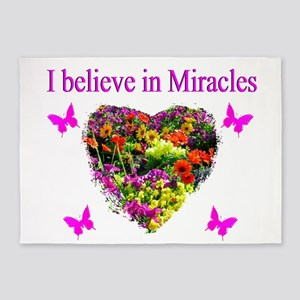 BELIEVE IN MIRACLES 5'x7'Area Rug